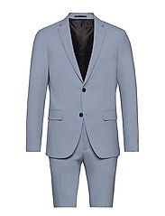 Plain mens suit - LT BLUE