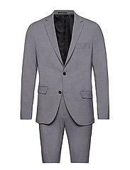 Plain mens suit - LT GREY