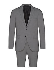 Plain mens suit - LT GREY MEL