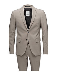 Plain mens suit - SAND