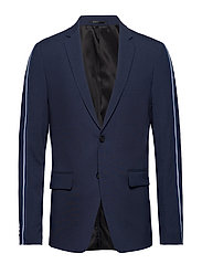 Suit w. contrast tape - BLUE MEL