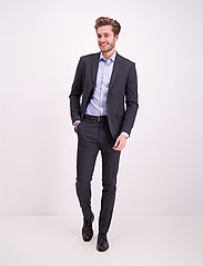 Lindbergh - Pin striped suit - costumes simple boutonnage - dk grey mel - 0