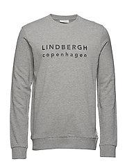 Logo print sweatshirt - LT GREY MEL