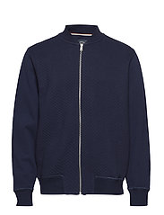 Quilted sweat - NAVY