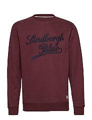 Applique sweatshirt - BORDEAUX
