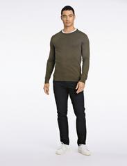 Lindbergh - Mélange round neck knit - perusneuleet - army mel - 0