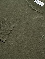 Lindbergh - Mélange round neck knit - perusneuleet - army mel - 3