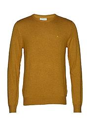 Mélange round neck knit - MUSTARD MEL