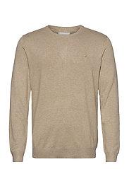 Mélange round neck knit - SAND MEL