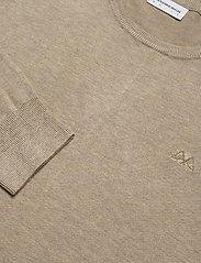Lindbergh - Mélange round neck knit - perusneuleet - sand mel - 3