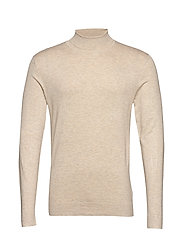 Roll neck knit - BEIGE MEL