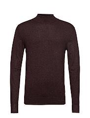 Roll neck knit - DK BORDEAUX MEL