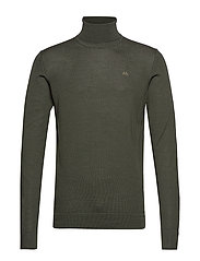 Merino knit roll-neck - BOTTLE GREEN