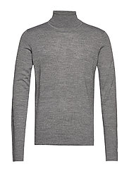 Merino knit roll-neck - GREY MIX