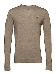 Merino knit o-neck - DK SAND