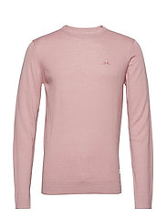 Merino knit o-neck - DUSTY PINK