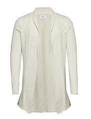 Draped cardigan knit - OFF WHITE