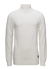 Structured roll-neck - OFF WHITE