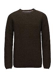 O-neck knit - ARMY
