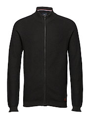 Knitted zip cardigan - BLACK