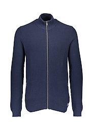 Zip knit cardigan - NAVY