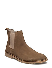 Suede boot - TAN