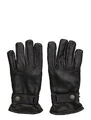 Lamb aniline leather gloves - BLACK