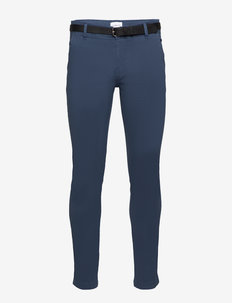 AOP chinos With. belt - chinos - aqua blue