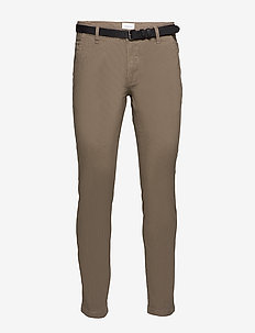 AOP chinos With. belt - chinos - dk sand
