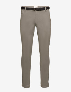 AOP chinos With. belt - chino's - silver