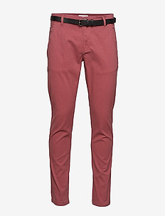 AOP chino shorts W. belt - DUSTY ROSE