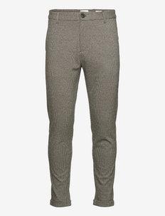 Gingham superflex pants - crop - formele broeken - brown