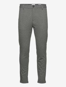 Gingham superflex pants - crop - formele broeken - dk grey