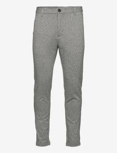 Gingham superflex pants - crop - suitbukser - lt grey
