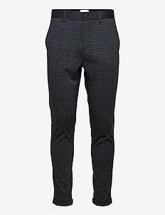 Checked superflex pants - suitbukser - blue
