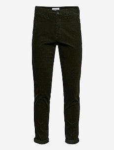 Corduroy slim fit pants - rennot - army