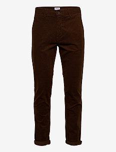 Corduroy slim fit pants - rennot - brown