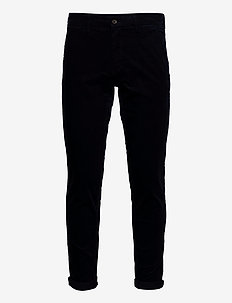 Corduroy slim fit pants - pantalons décontractés - navy