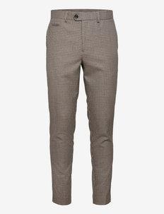 Houndtooth pants - suitbukser - dk sand