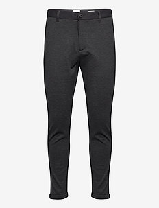 Superflex knitted cropped pant - anzugshosen - dk grey mix