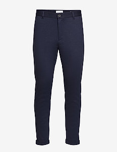 Knitted cropped pants - NAVY MIX