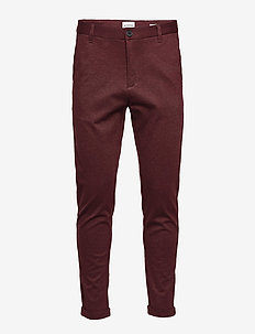 Superflex knitted cropped pant - formele broeken - red mix