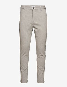 Knitted pants normal length - LT GREY MIX