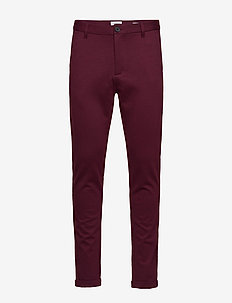 Knitted pants normal length - RED MIX