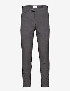 Club pants - dressbukser - grey mix