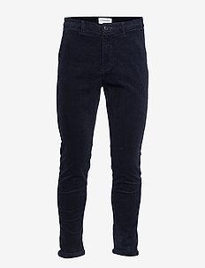 Cropped corduroy pants - NAVY