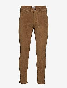 Cropped corduroy pants - SAND