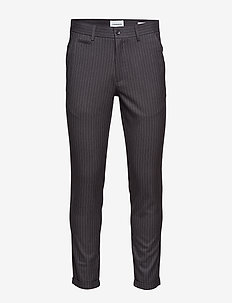 Club pants - pin striped - GREY MEL