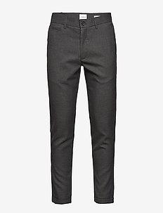 Club pants checked - GREY