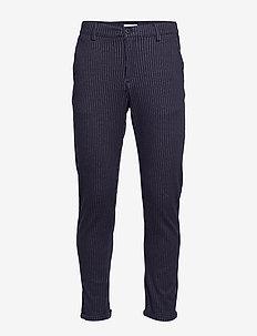 Chino pants with elastic waist - NAVY MIX